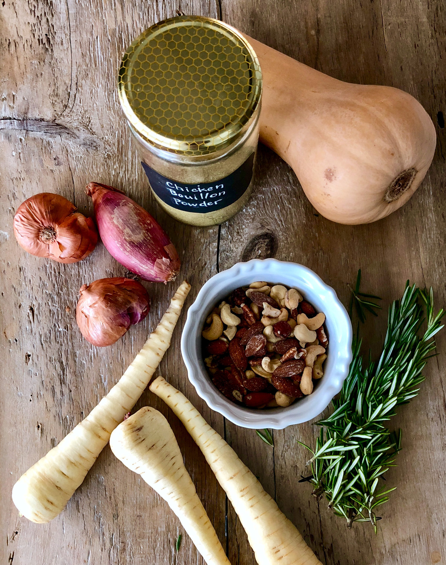 Parsnip, Rosemary and Mixed Nuts Soup