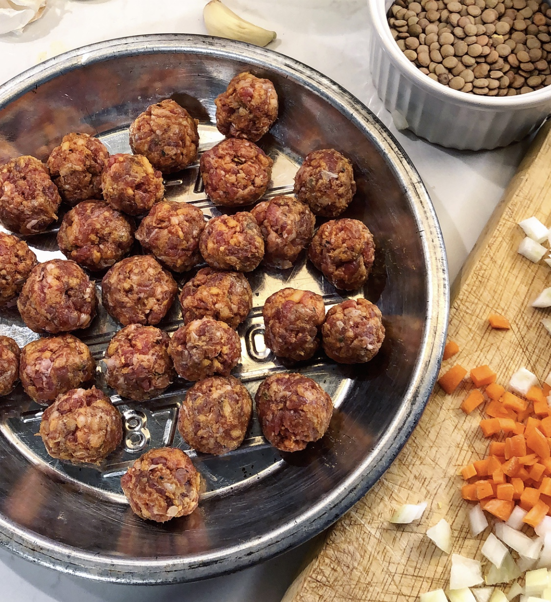 North African Harira lamb meatballs
